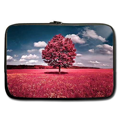 JIUDUIDODO Custom Independence Day Best Gift Beauteous Forest Water Resistant Neoprene Computer Bag Sleeve for Laptop 15
