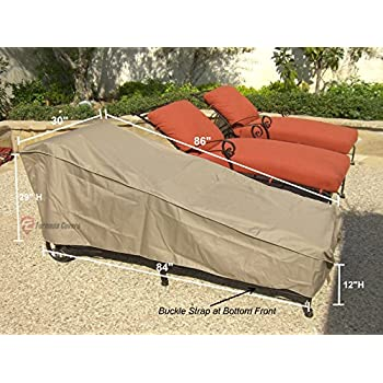 Amazon Com Champion Patio Chaise Lounge Cover Taupe
