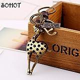 Nynoi pig key chains for women car keys Fashion Cute Cartoon Pig...