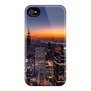 Hot Ny Skyline Tpu Case Cover Compatible With Iphone 4/4s by mcsharksby Maris's Diary
