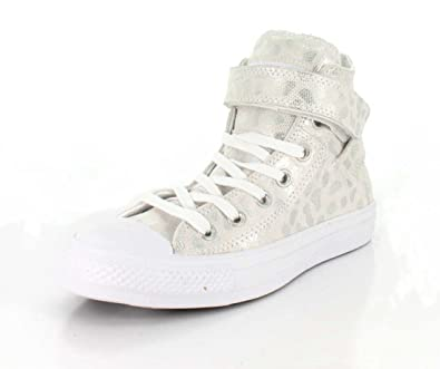 9f9b3bea1e5a5b Converse Womens Chuck Taylor All Star Brea High Top White Sneaker - 7