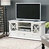 """TV Console Stands 55"""" White Wood Livingroom Furniture Storage Flat Television Cabinet with Mounts Plasma Entertainment Center"""