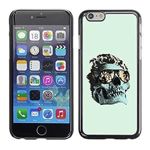 Ihec Tech Verde fresco Miami cráneo Death Metal / Funda Case back Cover guard / for Apple Iphone 6 Plus 5.5