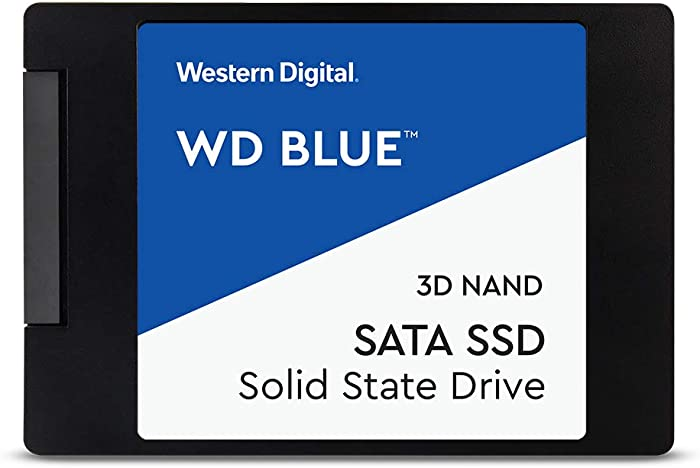 "Western Digital 4TB WD Blue 3D NAND Internal PC SSD - SATA III 6 Gb/s, 2.5""/7mm, Up to 560 MB/s - WDS400T2B0A"