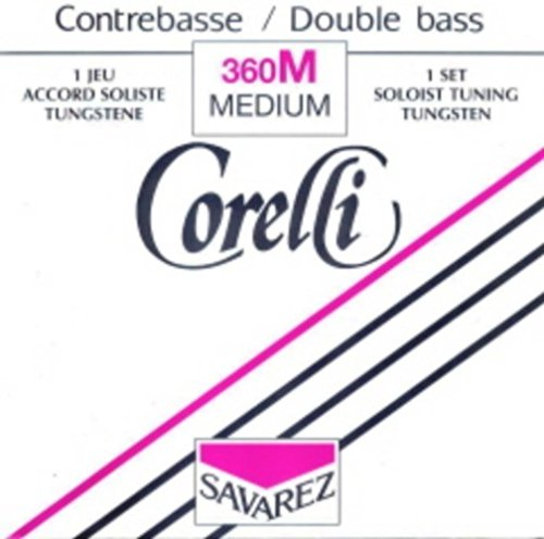 CUERDAS CONTRABAJO - Salvarez (Corelli 360/M) (Juego Completo/Tungsteno/Solista) Medium Bass 4/4   B00PH9PMTI