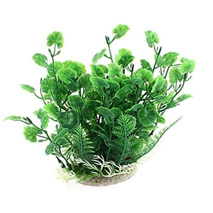 eDealMax plástico pecera acuario emulational hierba ornamento planta 17cm Altura