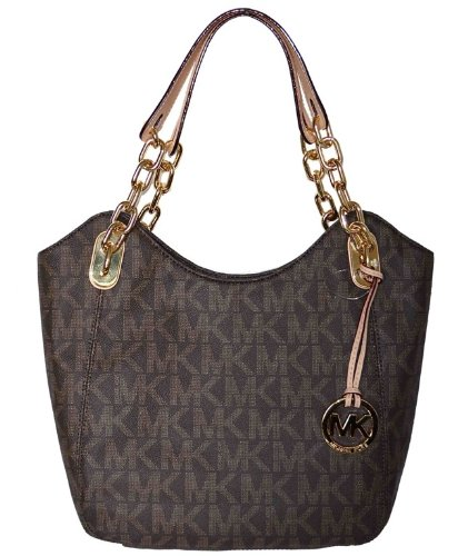Michael Kors Brown MK Signature PVC Lilly MD Shoulder Tote Bag Handbag Purse  - Buy Online in UAE.   Apparel Products in the UAE - See Prices, ... 1dcdf38de5