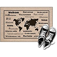 """High Cotton Welcome Doormats - International Language For """"Welcome"""""""