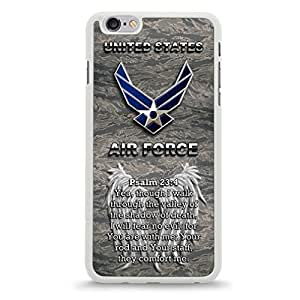iPhone 6 Plus Cellphone Case Cover w/ Camouflage United States Air Force Logo Design -White [Non-Retail Packaging]
