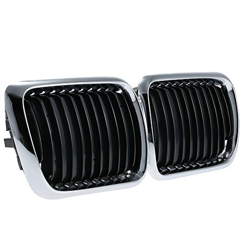 E36 Grill - KKmoon Black Front Center Kidney Grill for BMW E36 1995 1996 1997 1998 1999