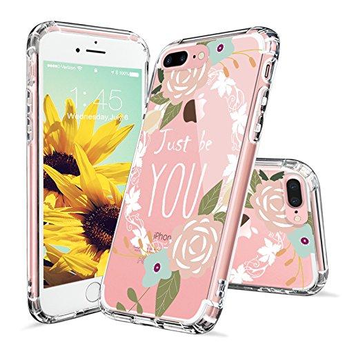 iPhone 7 Plus Case, MOSNOVO Tropical Floral Flower Clear Design Printed Transparent...