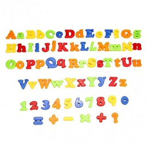 Pomcat Magnetic Capital & Minuscole 78Pcs Numeri alfabetici Lettere Toy with Jar CJ432