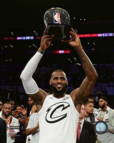 9cc1e4cd820 Amazon.com  LeBron James with the Cleveland Cavaliers MVP Trophy ...