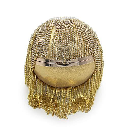 Nappa Rotondo Mano Gold Banchetto Gold Di Cena Borsa Diamante Palla Qualità Perline Borsa Afferrare Ricamo Perla FFLLAS OdwvaWqO