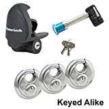 Master Lock Co 5 Trailer Locks Keyed Alike 5KA-37940