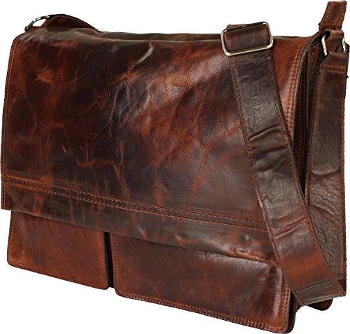 Harolds Saddle borsa a tracolla pelle 38 cm compartimenti portatile marrone