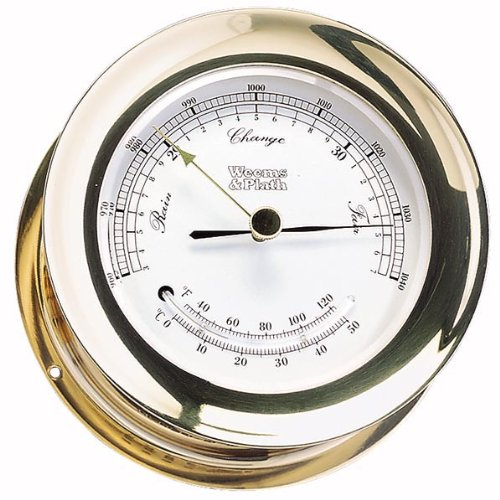 UPC 721002201003, Weems & Plath Atlantis Collection Barometer and Thermometer Combination (Brass)