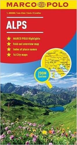 Alps Marco Polo Map (Marco Polo Maps): Marco Polo Travel Publishing ...