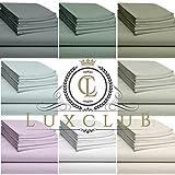 LuxClub 6 PC Sheet Set Bamboo Sheets Deep Pockets