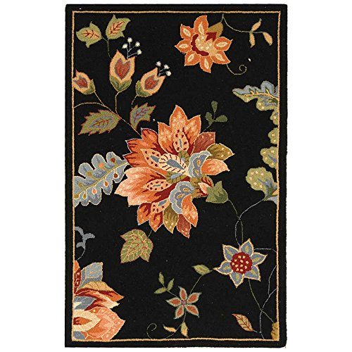 Safavieh Chelsea Collection HK306B Hand-Hooked Black Premium Wool Area Rug (2'6