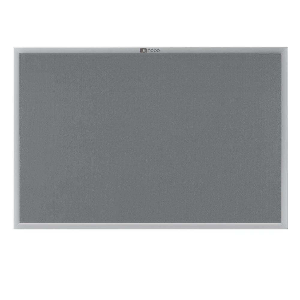 1500 x 1000 mm Nobo EuroPlus Felt Noticeboard with Fixings and Aluminium Frame Grey