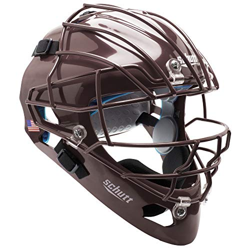Schutt AiR MAXX Hockey-Style Catcher's Helmet with Facemask, Maroon, Extended OS Cage Face Mask