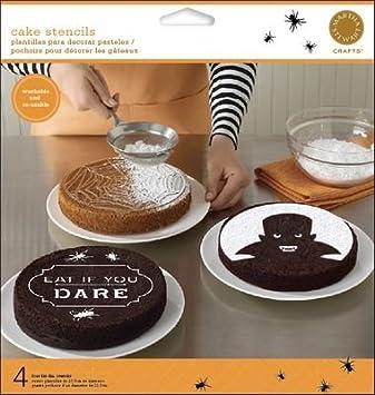 martha stewart crafts halloween vampire cake stencils - Martha Stewart Halloween Cakes