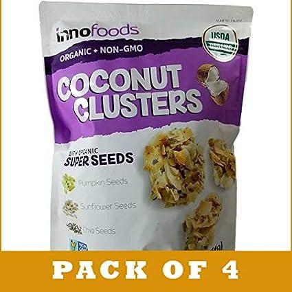 Innofoods - Juego de 4 sacos de coco con semillas orgánicas ...