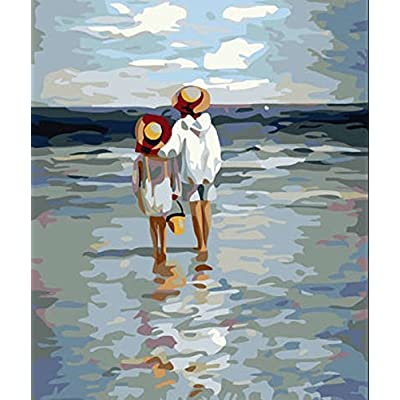 Greek Art Paintworks Paint Color By Number Kits,See the Sea,12-Inch by 16-Inch: Toys & Games