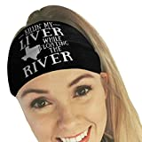 Product review for Hunputa Headwear, Wide Fashion Cotton Headbands for Women Breathable Moisture Wicking Sport Head Wraps Headband Scarf Bandanna Headwrap for Workout Yoga Running (Black)
