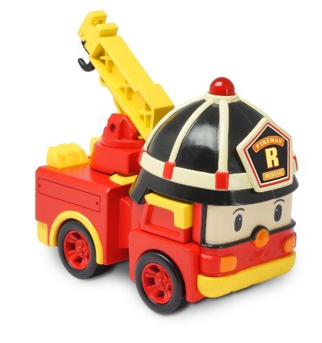 Playset roy et v hicule transformable lumineux de ouaps - Robocar poli pompier ...