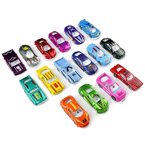 Race Car Metal Diecast Toys Model Cars Vehicle Set Collection Gift for Boys Girls Kids 16pcs (Multi Collection Metal)