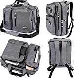 FreeBiz 18 Inches Laptop Briefcase Backpack Messenger Bag Shoulder Bag Laptop Case Handbag Business Bag Fits Up To 18.4 Inch Gaming Laptops for Men and Wonmen(18.4 inches, Grey)