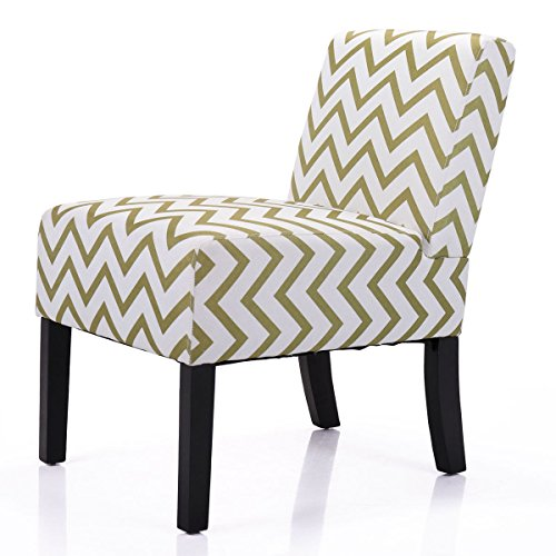 (Stylish Single Modern Leisure Chair Contemporary Upholstered Armless Accent)