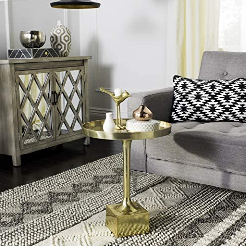 Safavieh Home Collection Corvus Antique Brass Round Side Table