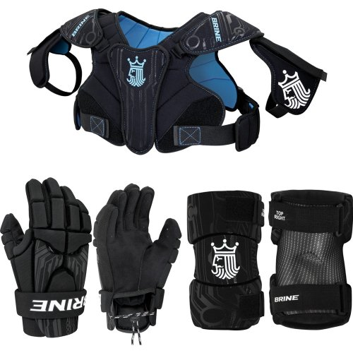Brine Youth Uprising Starter Lacrosse Set, Black, Medium