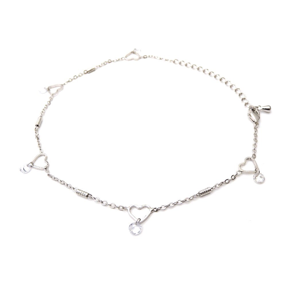 Simple Anklet Women Charming Gold Anklet Heart and Love Beach Foot Chain Adjustable