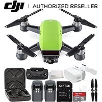 DJI Spark Portable Mini Drone Quadcopter + DJI Goggles Virtual Reality VR FPV POV Experience Essential Bundle (Meadow Green)