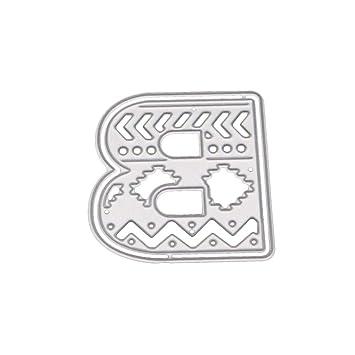 Beginfu Metal Acero 26 Grandes Grandes Alfabeto Letras – Troqueles Plantillas Metal para DIY Scrapbooking –