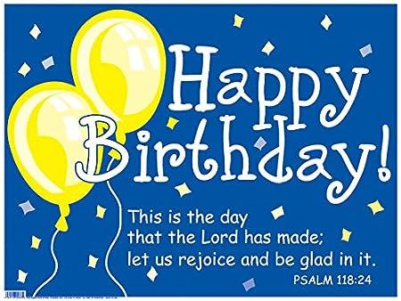 Faithworks Signo decoración, Feliz cumpleaños, Color Azul ...