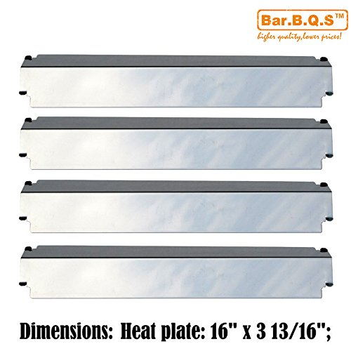 UPC 708478350435, Bar.b.q.s Replacement 93321(4 Pack) Grill Stainless Steel Heat Plate for Charbroil, Kenmore Sears, Thermos, Lowes Model Grills