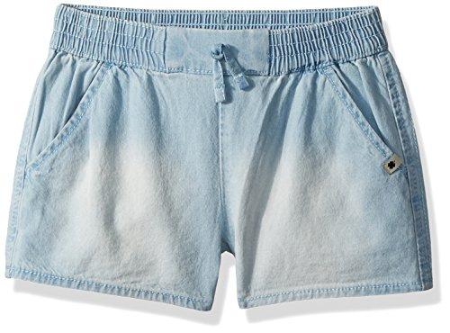 Girls Chambray Shorts (Lucky Brand Girls' Little Pull on Short, Tia Bella wash,)