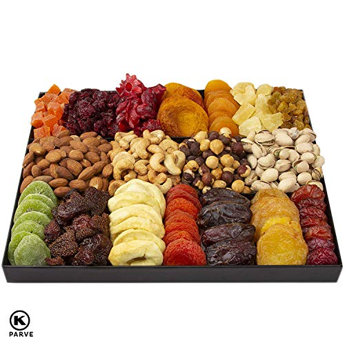 Oh! Nuts Christmas Gift Baskets - XL 18 Variety Dried Fruit & Nut Gourmet Holiday Family Gifts - Pri - coolthings.us