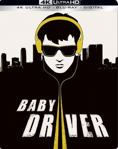 Baby Driver 4K Exclusive Steelbook  4K Ultra Hd Blu Ray Digital