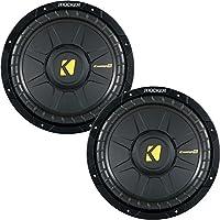 Kicker CompS 10 Inch 4 Ohm Subwoofer 40CWS104 Bundle