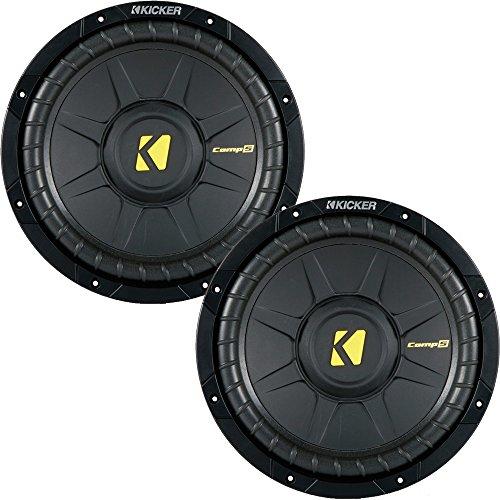 Kicker CompS 10 Inch 4 Ohm Subwoofer 40CWS104 Bundle - Kicker Comp Subs