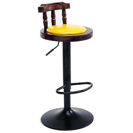 Magnificent Amazon Com Wooden Adjustable Bar Stools Swivel Barstool Andrewgaddart Wooden Chair Designs For Living Room Andrewgaddartcom
