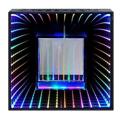 Desktop Wireless Bluetooth Hi Fi Stereo Speaker, Water Dancing and Infinity Pulse Light Speaker, LED Light Show, Party Speaker, Indoor Outdoor Bluetooth Sound Speaker, Party Speaker with Lights by MoreBuyBuy