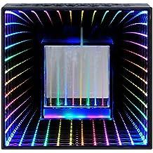 Desktop Wireless Bluetooth Hi Fi Stereo Speaker, Water Dancing and Infinity Pulse Light Speaker, LED Light Show, Party Speaker, Indoor Outdoor Bluetooth Sound Speaker, Party Speaker with Lights