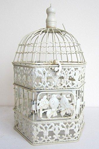Palazzo Int - Jaula de pájaro NO. 45 jaula acabado antiguo Deko ...